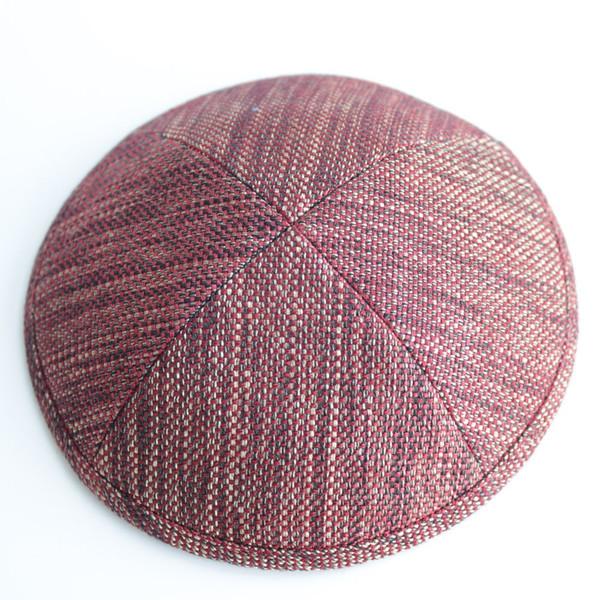Kippot kippot di lino rosso scuro Kiwi ebreo Kippot Kippot 17cm tappi per gli eventi