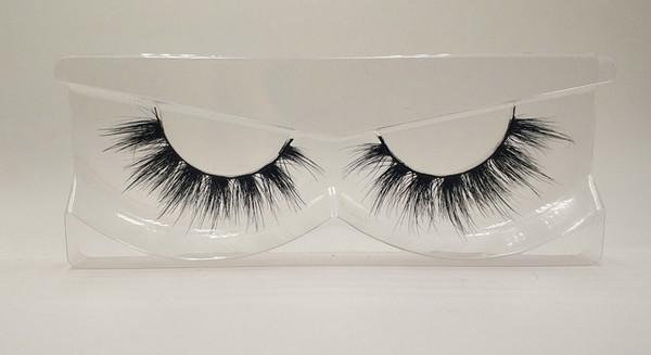 3D Mink False Eyelashes 100% Mink Fur Long Thick Hand-made Reusable Eyelashes Natural 1 Pair Pack MTL691