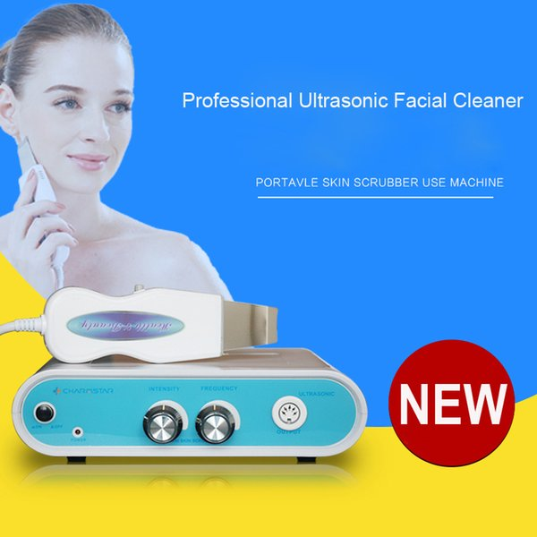 top popular Professional Ultrasonic Facial Cleaner Skin Scrubber Rejuvenation Anti-aging Skin Care Anion Face Cleaning Acne Removal Spa Beauty Massager 2020