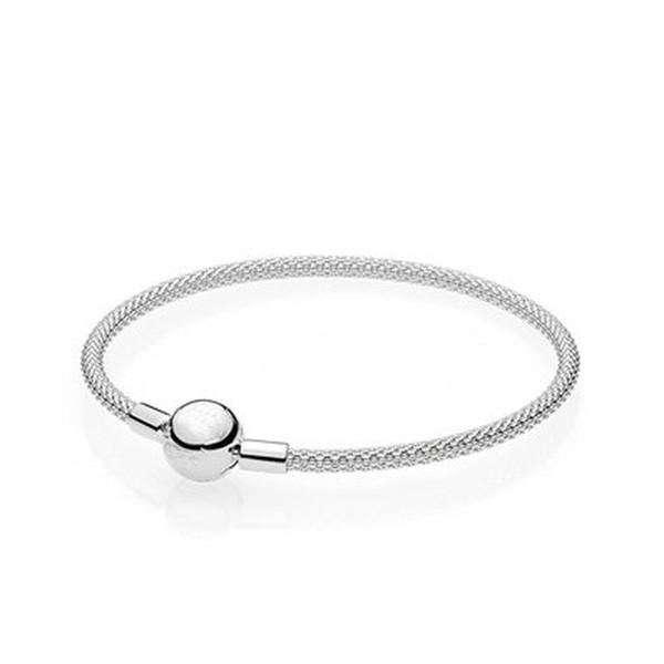 Popcorn Bangle Bracelets avec LOGO Fit Charm Perles pour pandora Femmes Fille Cadeaux D'anniversaire De Noël BR011