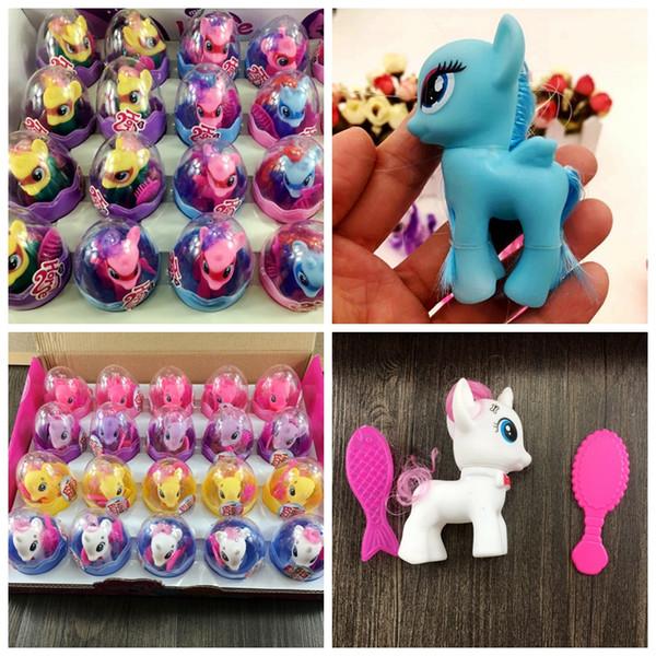 Güzel unicorn bebek Sürpriz Yumurta Bebek Çocuk Koleksiyonu Şekil Çocuk Oyuncak Güzel at rakamlar Noel hediyeleri MMA1019