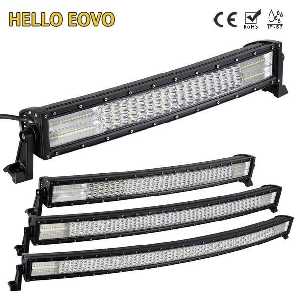 HELLO EOVO 22 32 42 52 Zoll Curved LED Light Bar für Arbeitsanzeigen Offroad Boot Auto Traktor Truck 4x4 SUV ATV 12V 24V