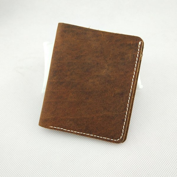 2018 Famous Brand Genuine Leather Men Wallets Handmade Men's Wallet Male Money Purses Coins Wallet With ID Card Holder