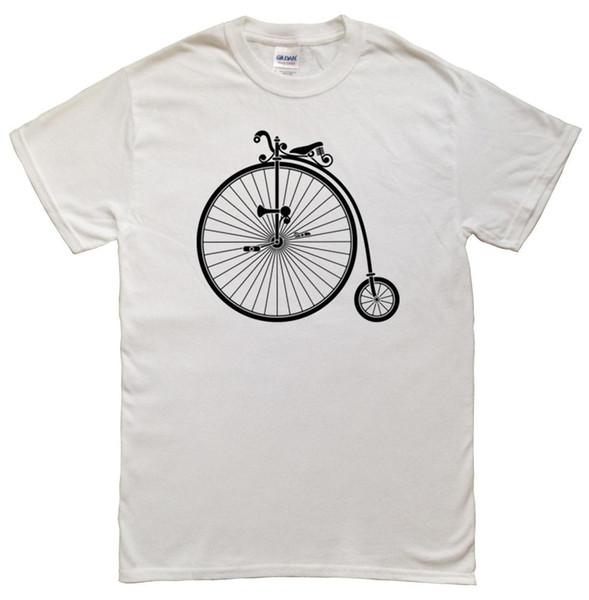 Vintage Penny Farthing - High Wheel Bicycle - Men's T-shirt XL, L, M & S Fashion T-Shirts Slim Fit O-Neck