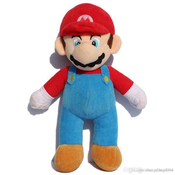 Wholesale-25/37/42cm 10inch Super Mario Bros Soft Plush MARIO LUIGI MARIO PLUSH DOLL For Children kids birthday Gifts Free Shipping