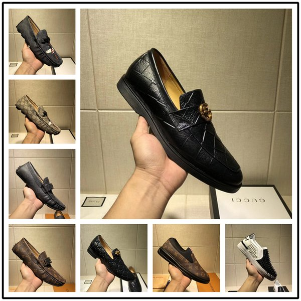 2018 New sell Suede hot drilling Arrivla Fashion Mens medusa Sheet metal kanye west Casual shoes free size 38-45