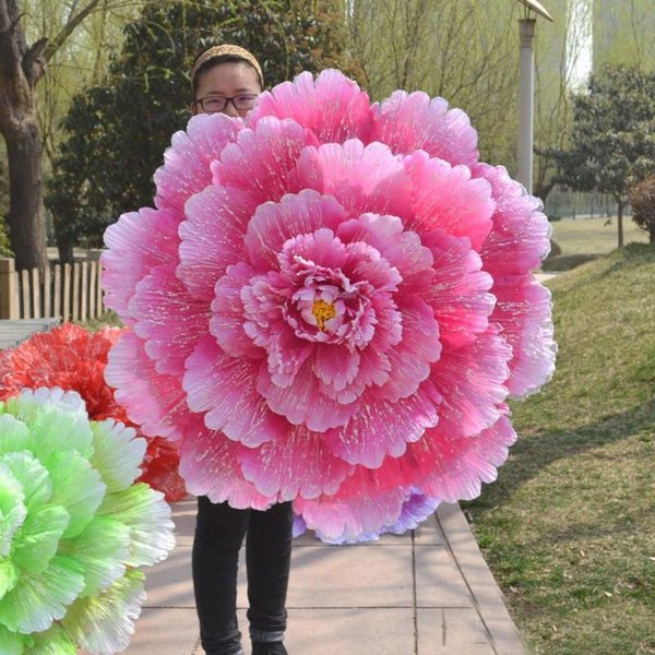 Dance Performance Peony Flower Umbrella Chinese Multi Layer Cloth Umbrellas Stage Props For Women Artistic Show Props Many Sizes 78sy5 ZZ