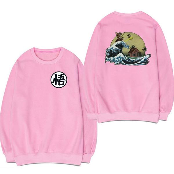 Hip Hop sweat à capuche blanc noir gris rose Goku Sweat-shirt à capuche Marque Vêtements naruto hommes sweatshirts