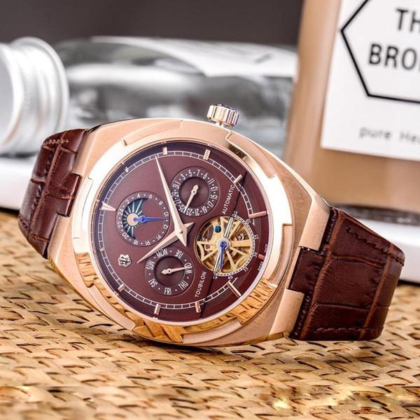 Top Quality Mens Watches Leather Strap Automatic Mechanical Mens Designer Watches Man 007 James Bond Male Clock Tourbillon Watch Wristwatch