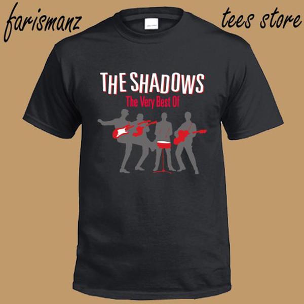 Gölgeler * Çok Iyi Enstrümantal Rock Grubu erkek Siyah T-Shirt Boyutu S-3XL Tops Yuvarlak Boyun Tees kısa Kollu T-Shirt