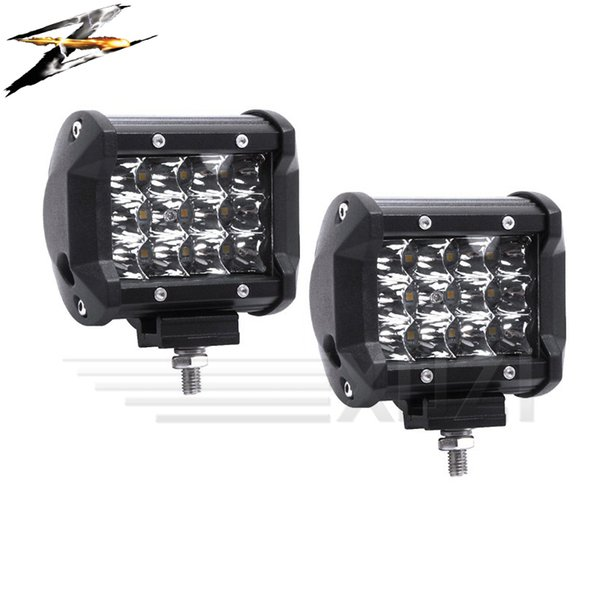 2pcs 36W 10~48V 6000K Led Light Bar Modified Off-road Lights Trucks Off-road Forklifts Engineering Vehicles Cars Steam Ship