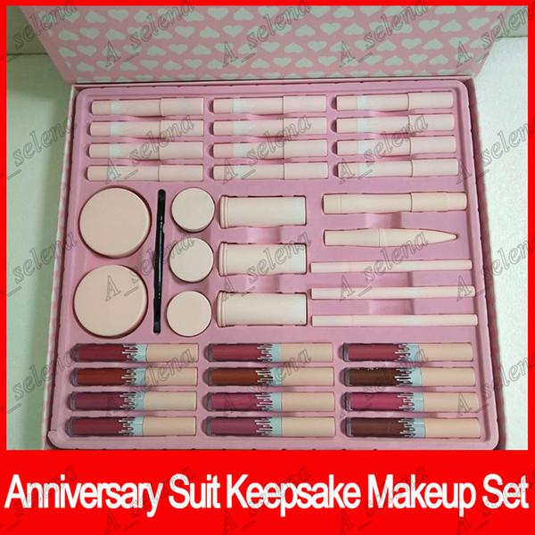 9 em 1 terno de aniversário lembrança um conjunto de maquiagem edição limitada matte batom líquido kim bb cream frete grátis