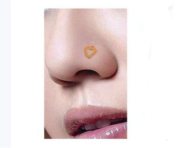 Free Body Jewelry Stainless Steel Nose Ring Turquoise Nostril Hoop Nose Earring Piercing Jewelry