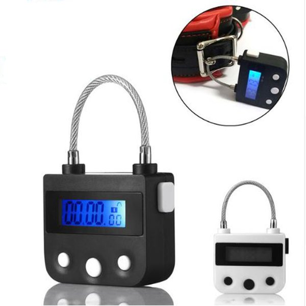 Electronic Bondage Restraint Lock Bdsm Fetish Handcuffs Mouth Gag Chastity Device Rechargeable Timing Switch Sex Toys For Couple