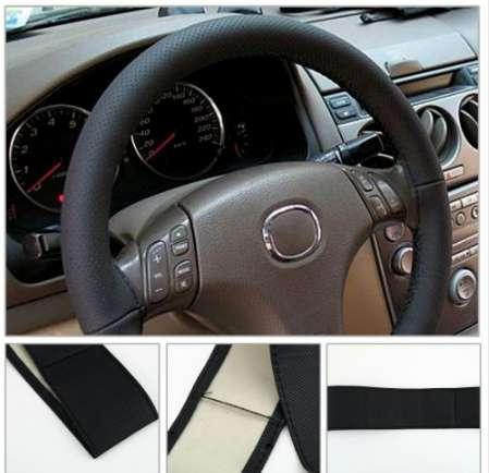 Hot Car Steering Wheel Cover Braid on the Steering Wheel Microfiber Skid-Proof Cover Entire Single Connector 36-38cm Car-styling