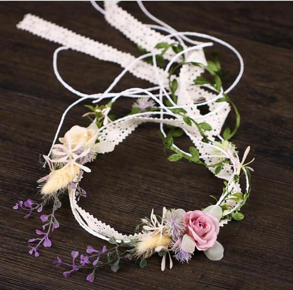 2018 new flower tassel hair sassy female color headwear bride exterior shooting hair accessories