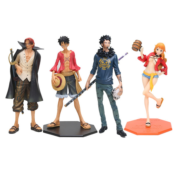 Anime One Piece Master Stars Piece MSP Luffy Shanks Law Nami PVC Action Figure Collection Model Toy 22-27cm