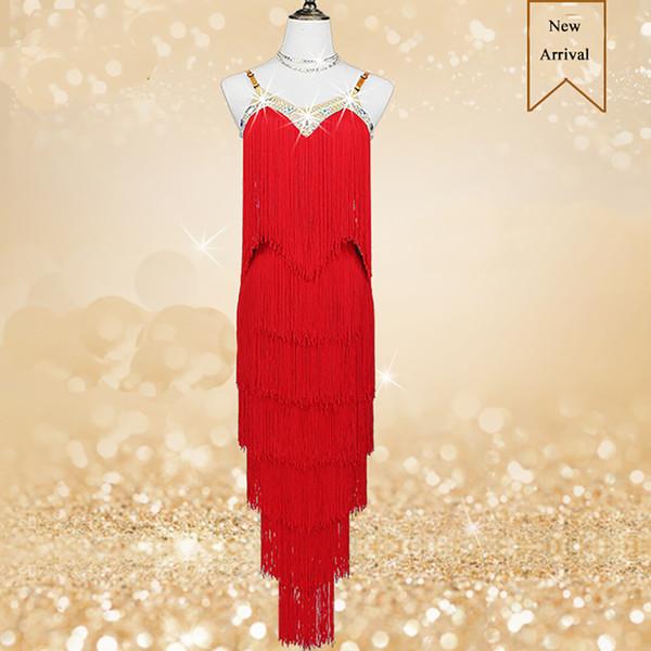 Sleeveless Latin Dancing Dresses For Ladies Rose Red Blue Yellow Braces Suit Feminine Sexy Women Flamenco Ballroom Costumes B146