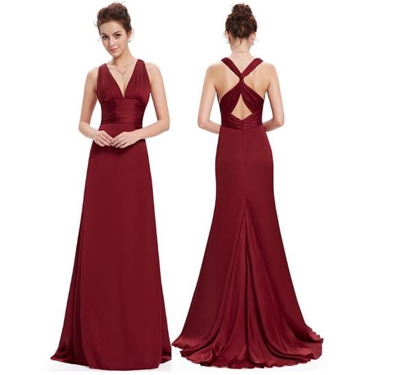 New Style Bankett Spaziergang Show Kleid, Rock mit tiefem Rücken V langes Körper-Gebäude Abendkleid, eine Vielzahl von Farben zur Verfügung, direkt ab Werk sa