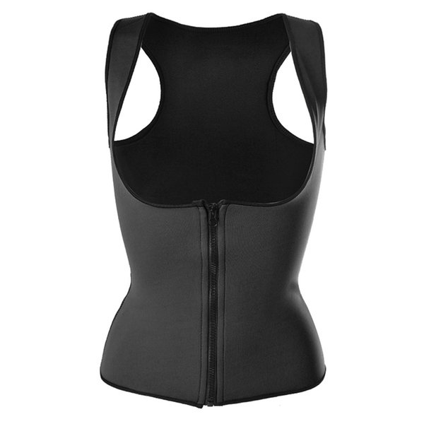 Vertvie 2018 Women Vest Neoprene Corset Corpete Zipper Workout Sauna Suit Waist Cincher Trainer Hot Shaper Body Waist Support