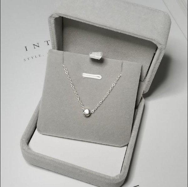 S925 pure silver chain necklace, South Korea in clavicle girl contracted joker rose gold pendant restoring ancient ways