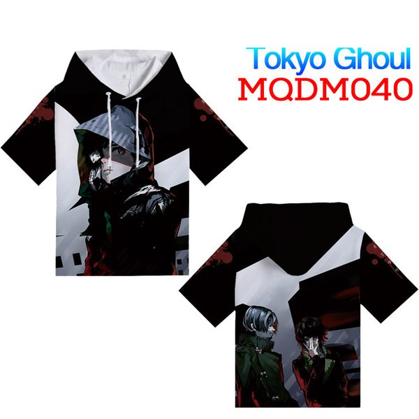 Japanese Anime Tokyo Ghoul T-Shirt with hat Cosplay Costume Men T shirt Women Clothing Tees boyfriend's gifts M~XXXL