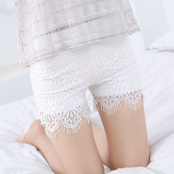 Summer lace safety pants anti-light shorts female models eyelashes can wear leggings insurance pants without curling