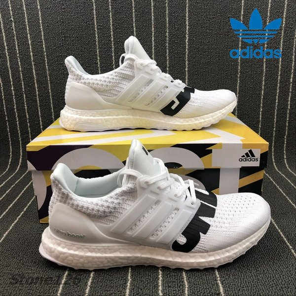 Adidas Originals Ultra Boost 4.0 Undefeated Triple White Black Men Running Shoes Sport Primeknit Real Boost Fashion Ultraboost Trainer Shop Shoes Men
