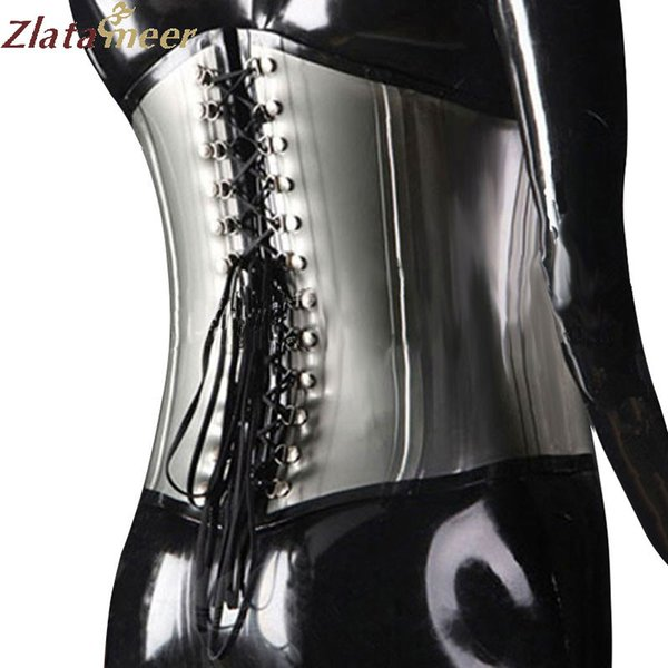 Latex Korsett für Frauen Fetisch Shapewear Plus Size Front Zipper Back Schnürkorsetts Customize Service LCC006