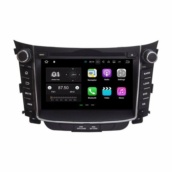 "Quad core 2 din 7"" Android 7.1 Car Audio DVD Player Car DVD for Hyundai I30 2011-2015 With 2GB RAM GPS Radio Bluetooth WIFI Mirror-link"