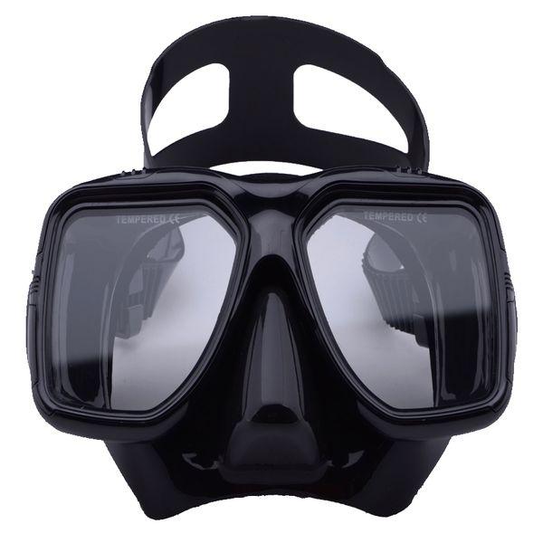 Ayarlanabilir Kayış şnorkel ile Su Doğa Sporları Tüplü Dalış Maskesi Siyah Serbest Dalış Gözlükler Temperli Camlar Antifog
