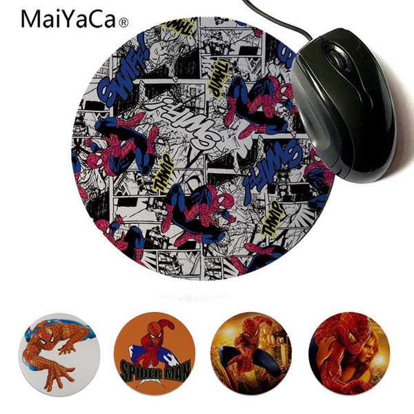 MaiYaCa  Spider Man Rubber Pad to Mouse Game 20x20cm 22x22cm diameter round mouse pad
