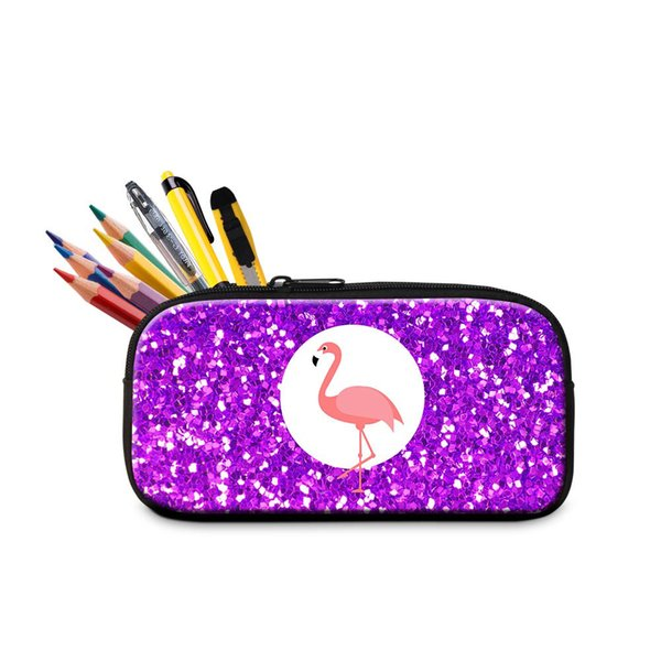 3D Flamingo Printing Pencil Case For Girls Boys Women New Fashion Cosmetic Cases Ladies Makeup Pouch Children Lovely Little Pen Box Bag Bags