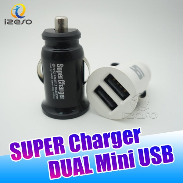 Universal Dual USB Chargeur de voiture Adaptateur Mini Smart 2 ports USB 3.1A Chargeurs de voiture rapides pour iPhone Samsung iPad