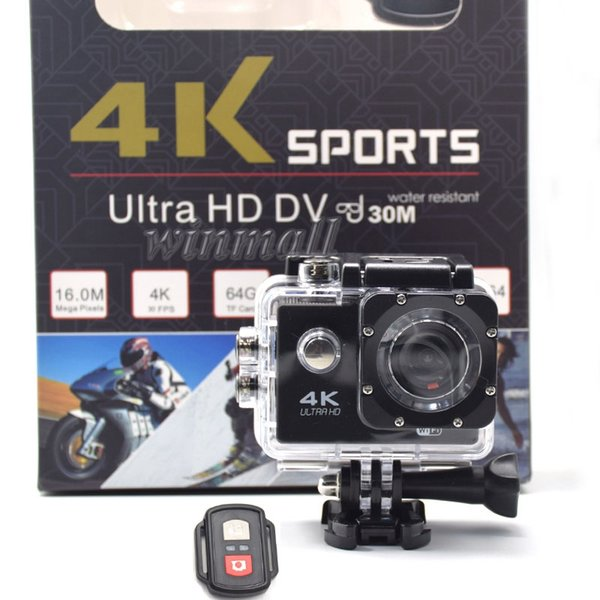 best selling Cheapest 4K Action Camera with Remote Control 1080P Full HD Sport Camera Waterproof DV Retail Package Full Accessories