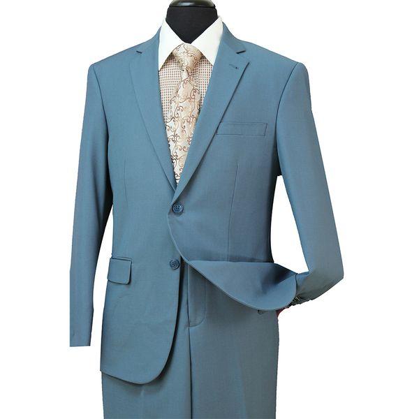 Melhor Homem Terno De Casamento Dos Homens Blazer Ternos (Jaqueta + Calça) 2018 Barato Azul Marinho Do Noivo Slim Smoking Padrinhos Cinza Tan Xaile Lapela ST004