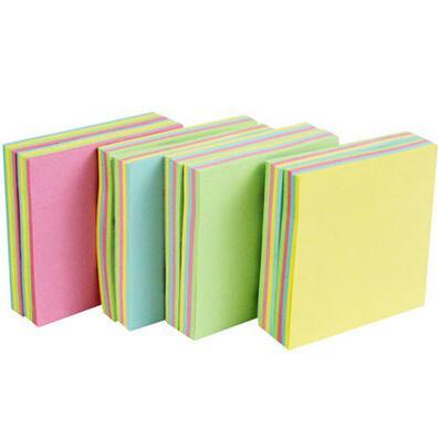 100Pages New Style Stationery Store Mini Memo Pads Kawaii Sticky Notes School Office Supplies Cute Colorful Solid Stickers