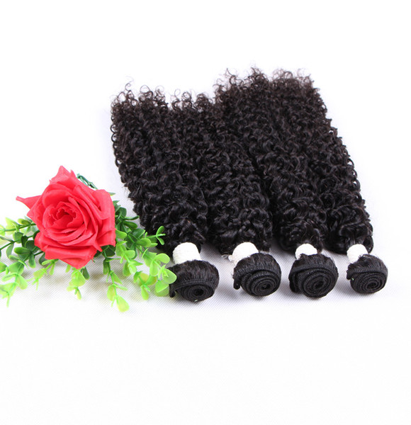 Indian Curly Virgin Hair Jerry Kinky Curly Virgin Hair Tight Curly Weave 3pieces Cheap Human Hair Bundles, free DHL