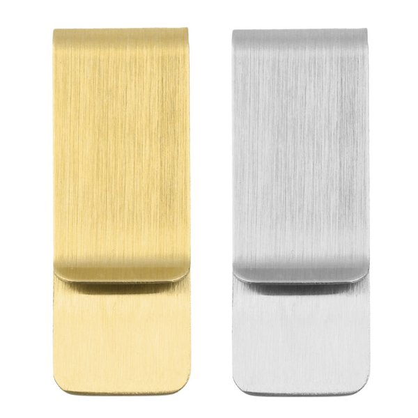 Edelstahl Geld Geldscheinklammer Kreditkarteninhaber Brieftasche Organizer Gold Silber Metall Clip Für Männer NNA799