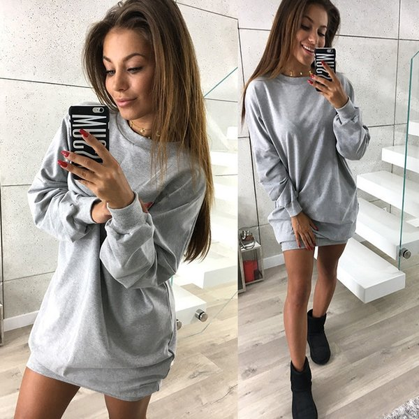 best selling Wholesale Winter Personality Round Collar Pure Color Women Cardigan Medium And Long Term Designer Sweater Leisure Loose Type Women Sweaters