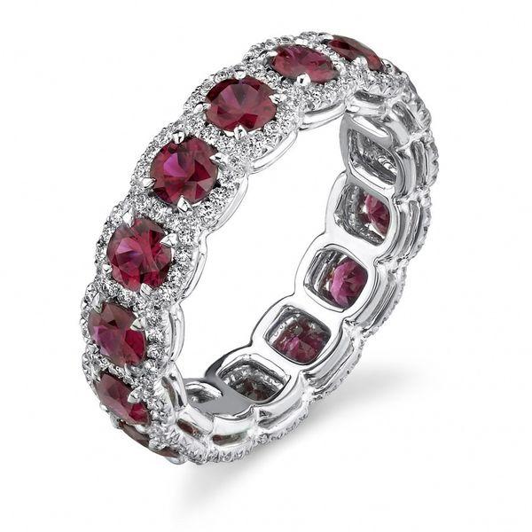 Мода Стерлингового Серебра 925 Кольцо Красный Рубин Свадьба Камень Невесты Свадьба Обручальное Gemstone Годовщины Бренда Женщина