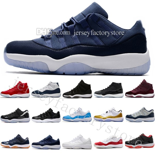 2018 men basketball shoes 11 high gym red midnight navy metallic gold barons university blue low bred concord varsity red sneakers eur 36-47