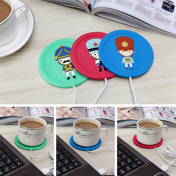 novelty USB Cup Pad Warmer Heater Cartoon Silicone Heater for Milk Tea Coffee Mug mat Hot Drinks Beverage Cup Mat