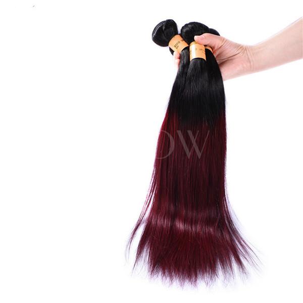 Das menschliche Haar änderte nach und nach die Farbe. T-Farben-Vorhang-Bündel mit geraden Bindungen und Pferdeschwanz-Haarverlängerungen