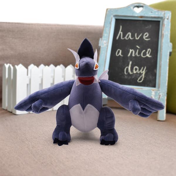 28 cm 12 '' Dark Lugia Cartoon Tasche Tiere Plüsch Puppe Spielzeug Weiche Gefüllte Puppen Kinder Geburtstagsgeschenke Spielzeug Plüschtiere Knuffel