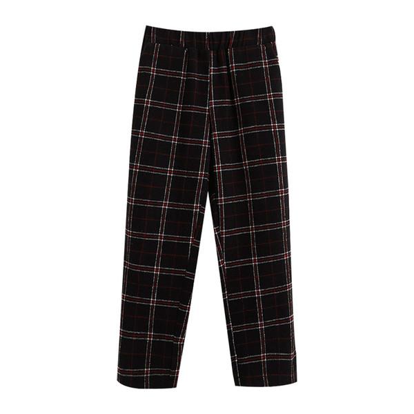 3eb202900ac 2018 Women S Korean Kawaii Ulzzang Loose Lattice Wild Fleece Pants Casual  Student Female Japanese Harajuku Trousers For Women