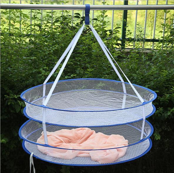 Creativo super utile S gancio pieghevole Stendino appendere gli abiti Portabiancheria Dryer netto Double Layer