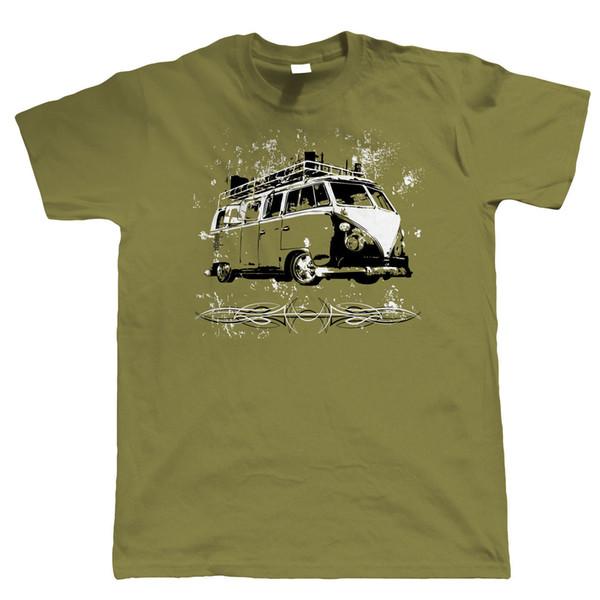 Split Screen Rat Camper Van T Shirt - Vee Dub Surfing Hood Ride - Gift for Dad Funny free shipping Unisex tee