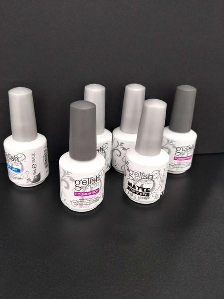 best selling Soak Off UV Nail Gelpolish Base Coat + Top Coat Long Lasting Nail Primer Foundation Gel Kit Nail Art Salon Manicure