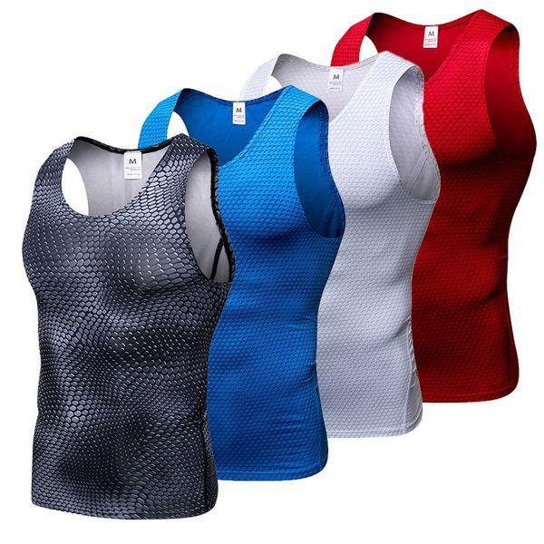 Brand 2018 Compression Tights Gym Tank Top Men Quick Dry Sleeveless Sport Shirt G ym Fitness Top Men's Running Vest Sportswear